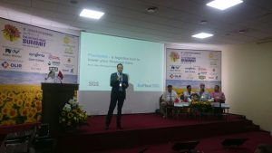 Bruno Silva speaking at Sunflower Oil Summit