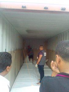 BeFlexi SGS Tunisia, flexitank installation