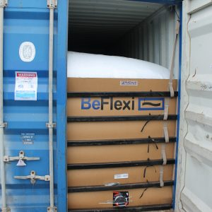 BeFlexi flexitank after rail impact test in Russia with Rhenus Logistics
